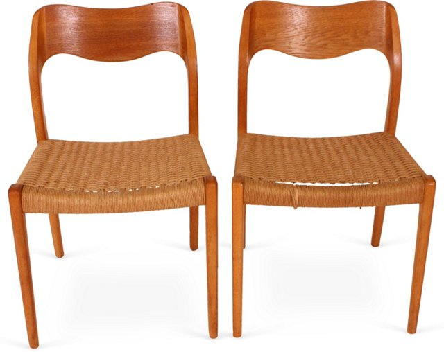 Moller Dining Chairs, Pair