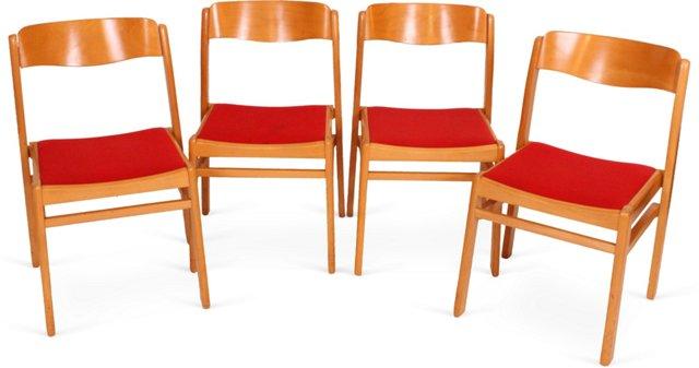 Mid-Century Modern Chairs, Set of 4, I