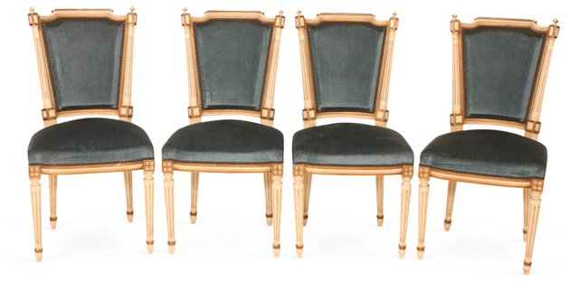 Louis XV Chairs, Set of 4