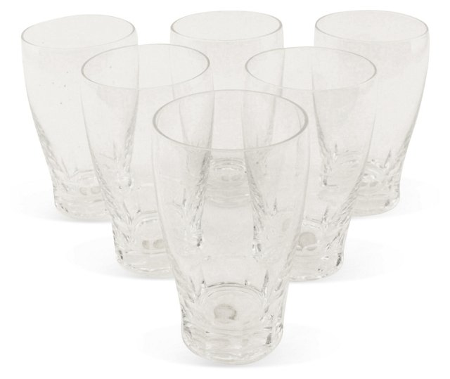 Saint-Lambert Crystal Water Glass, Set 6