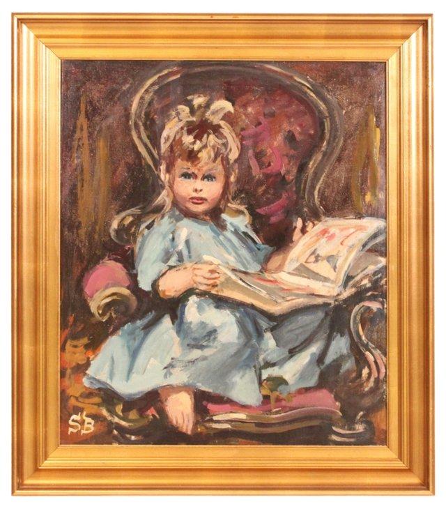 Oil Painting, Margrethe Reading