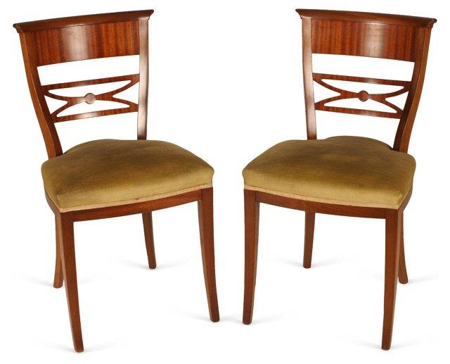 Regency Chairs, Pair