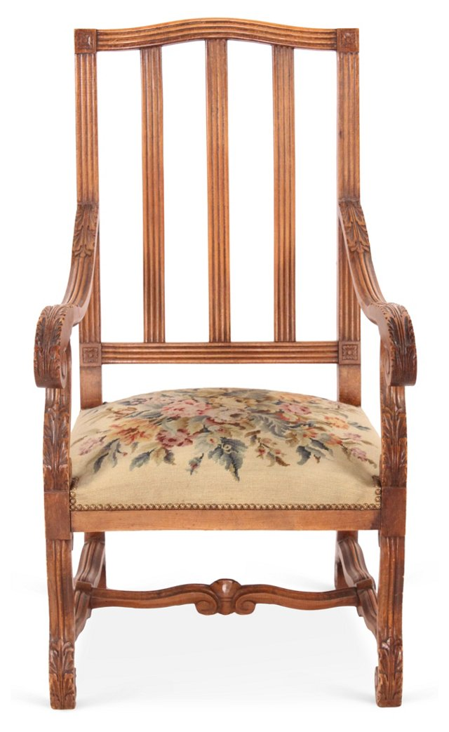 French Country Needlepoint Chair