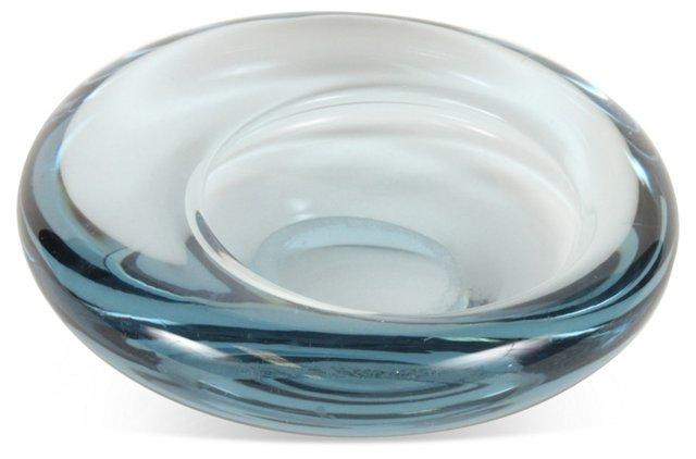 Holmegaard Glass Ashtray, Blue