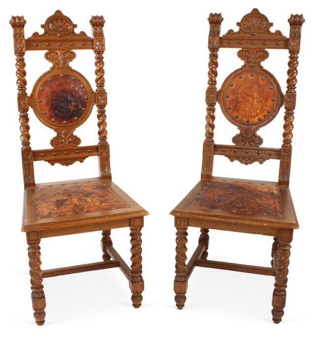 19th-C. Baroque Chairs, Pair