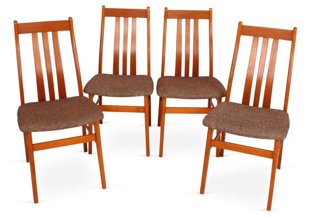 Mid-Century Modern Chairs, Set of 4