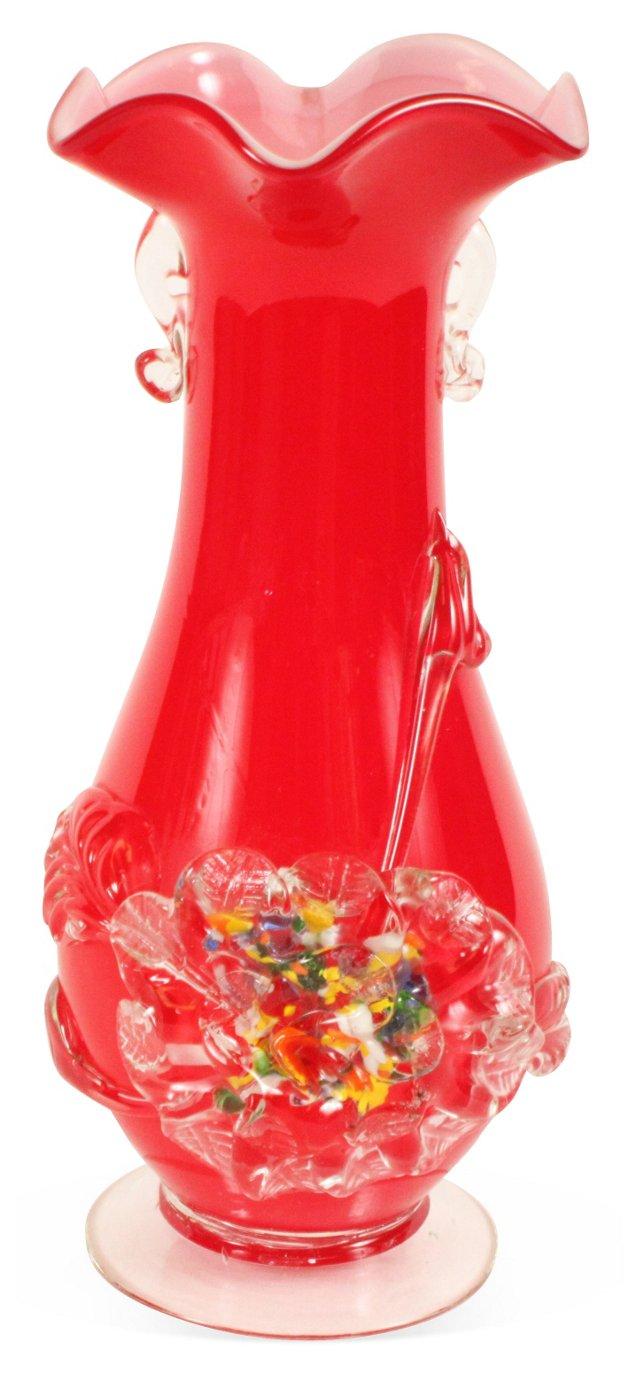1960s Art Glass Vase IV