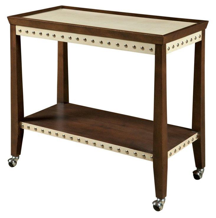 Disney Bar Cart, Brown/Ivory