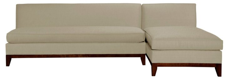 Katie Reversible Sectional, Beige