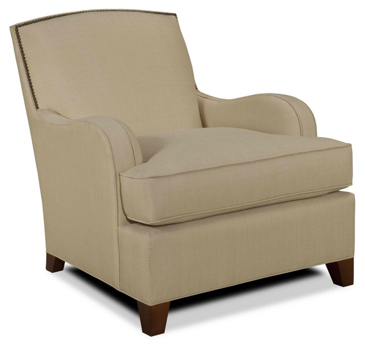Sydney Club Chair, Bisque