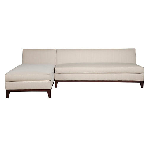 Katie Reversible Sectional, Oatmeal