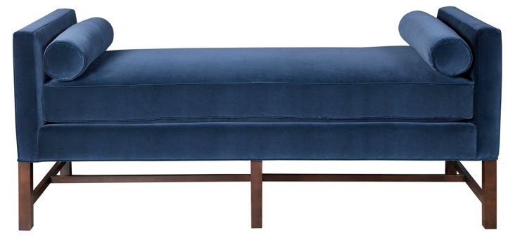 "Andrew 71"" Day Chaise, Navy"