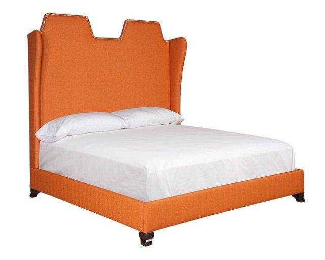 Orange Camille Bed, King