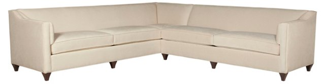 Lois Ultrasuede Sectional, Cream