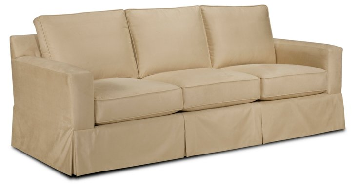 "Reed 85"" Slipcovered Sofa, Beige"