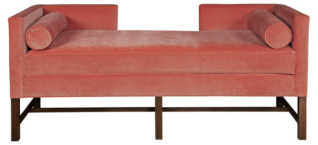 Andrew Daybed, Terracotta Velvet - Chaise Lounges - Chaise Lounges ...