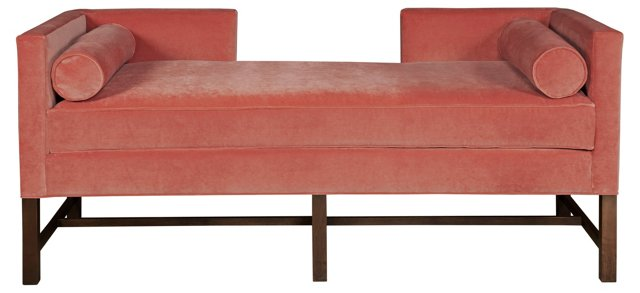 "Andrew 71"" Day Chaise, Salmon"