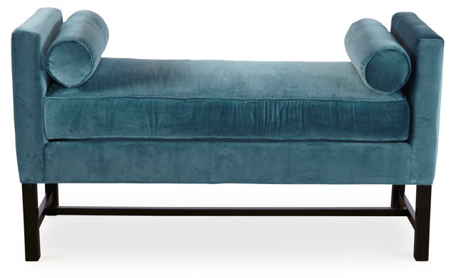 "Andrew 54"" Day Chaise, Turquoise"