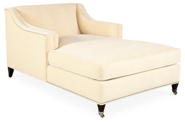 Cupid Velvet Chaise, Beige