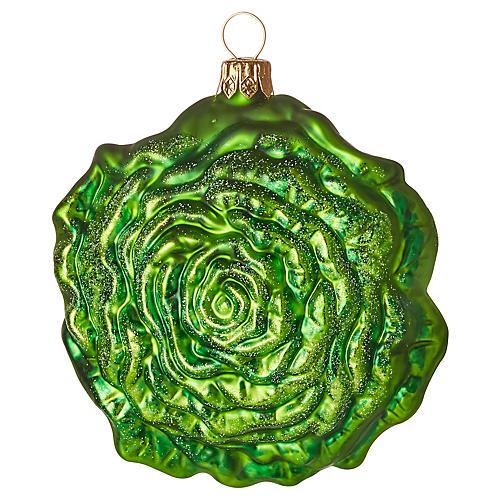 Romaine Ornament, Green