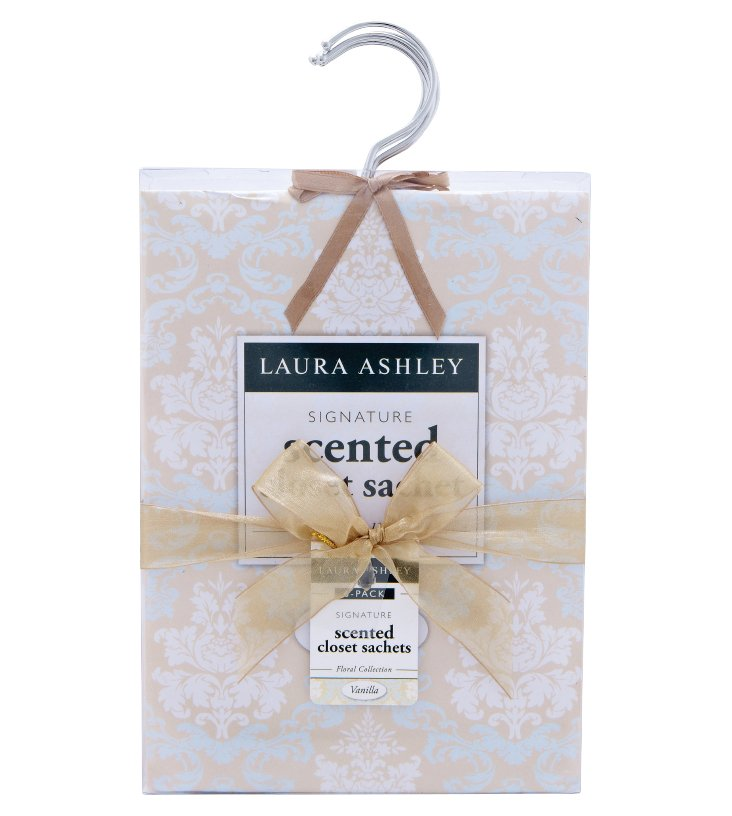 6-Pack Hanging Sachets, Vanilla-Scented