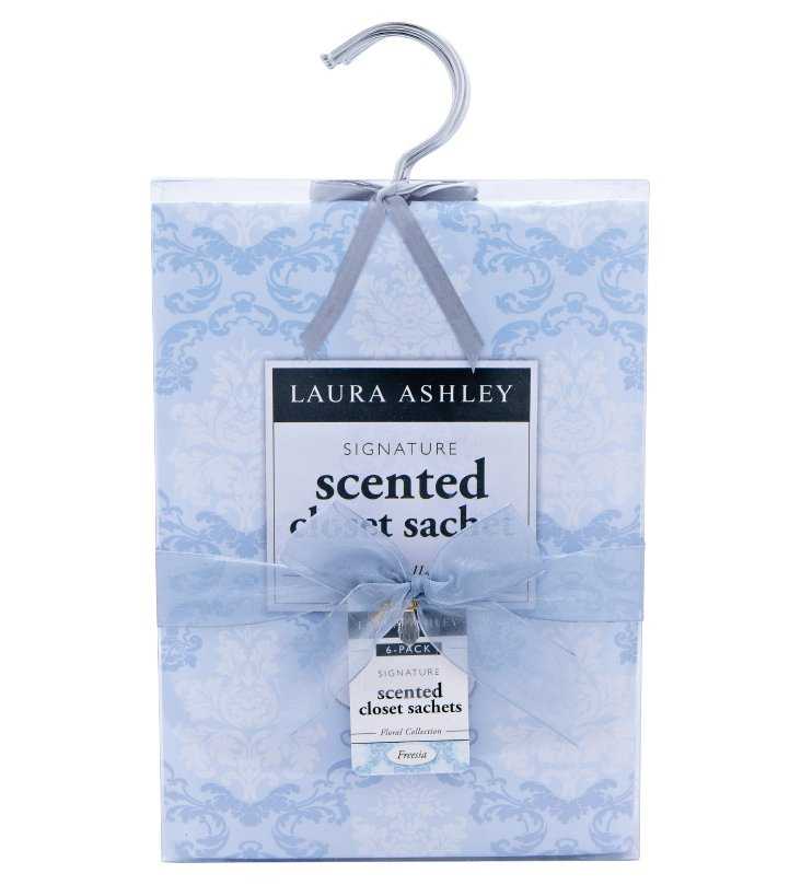 6-Pack Scented Hanging Sachets, Freesia