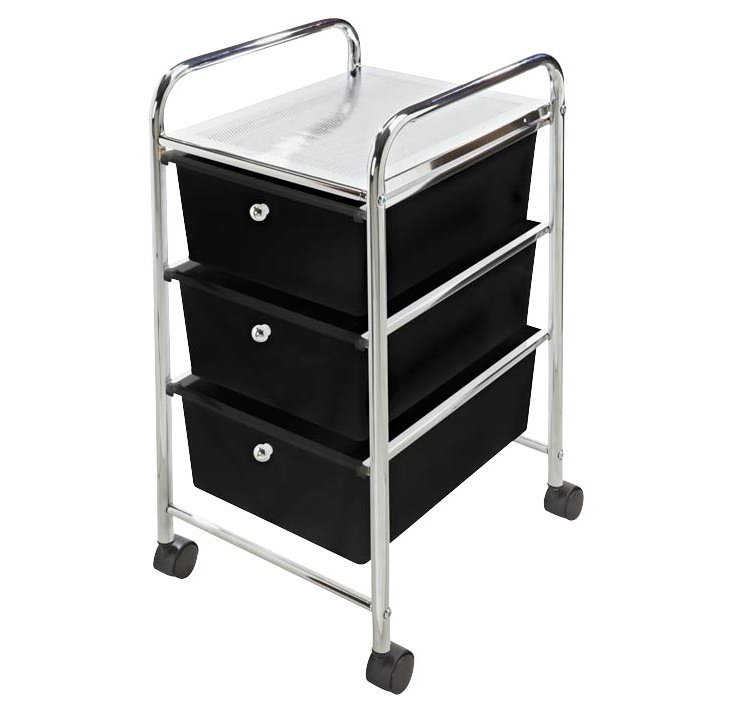 3-Drawer Laundry Cart