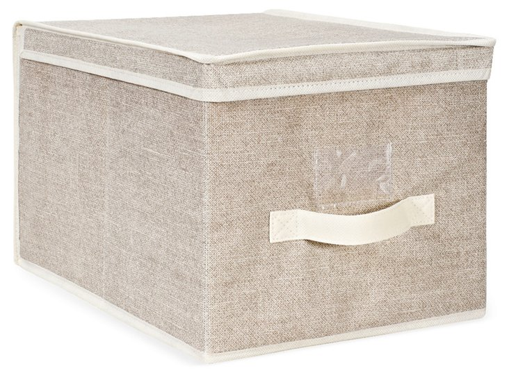 S/2 Large Storage Boxes, Beige