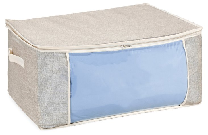 S/2 Jumbo Storage Bags, Beige/Blue