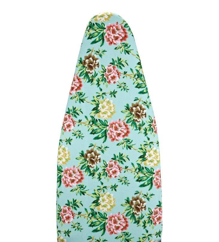 Floral Ironing Board Cover, Aqua/Pink