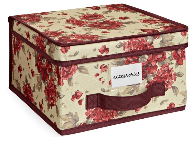 S/2 Cranberry Storage Boxes, Medium