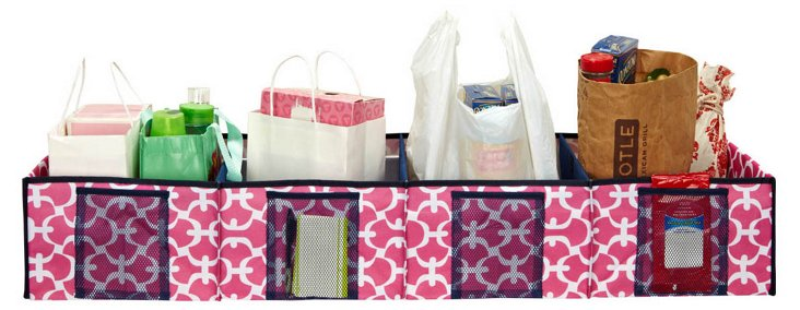 4-Slot Shopping Organizer, Pink/White