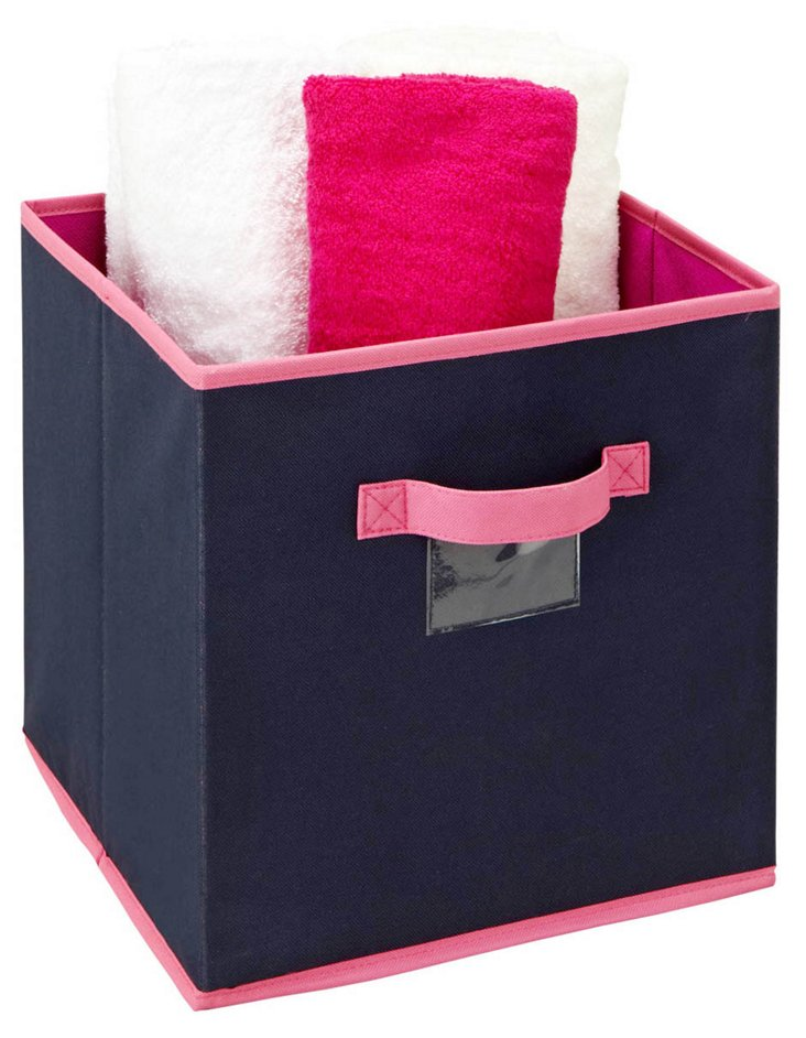 S/2 Medium Storage Cubes, Navy