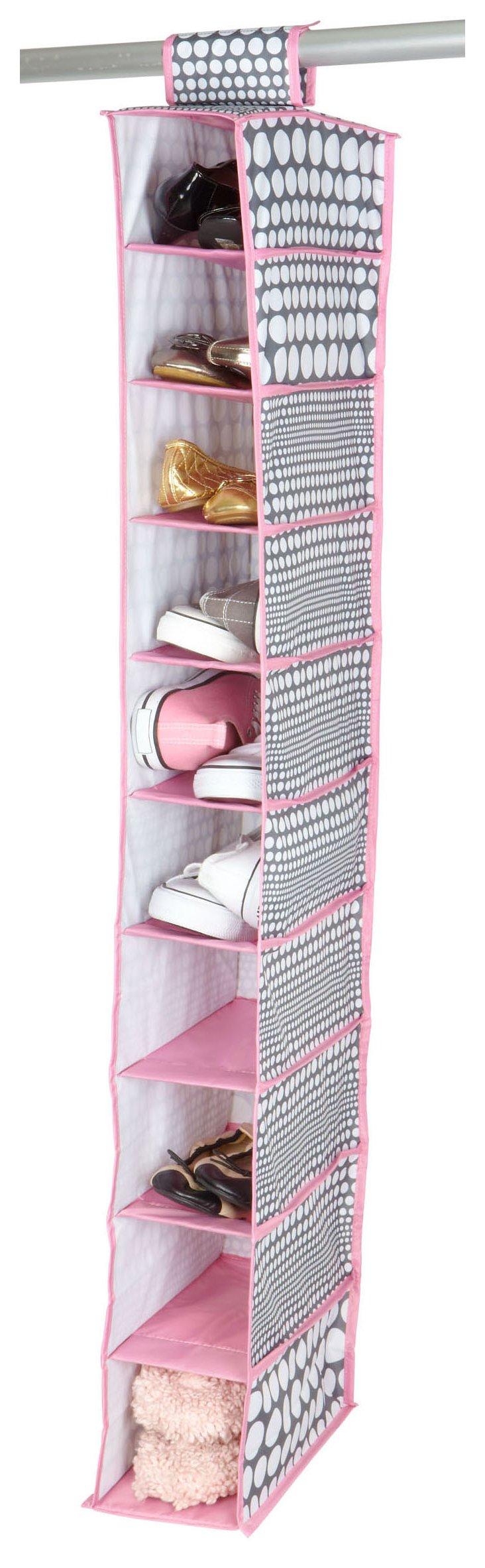 10-Shelf Hanging Organizer, Dots