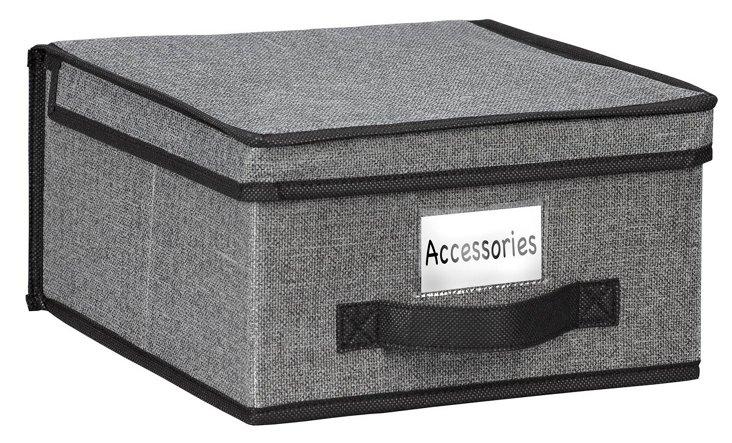 S/2 Medium Storage Boxes, Gray