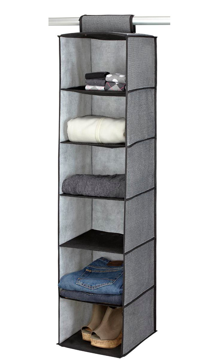 6-Shelf Closet Organizer, Gray