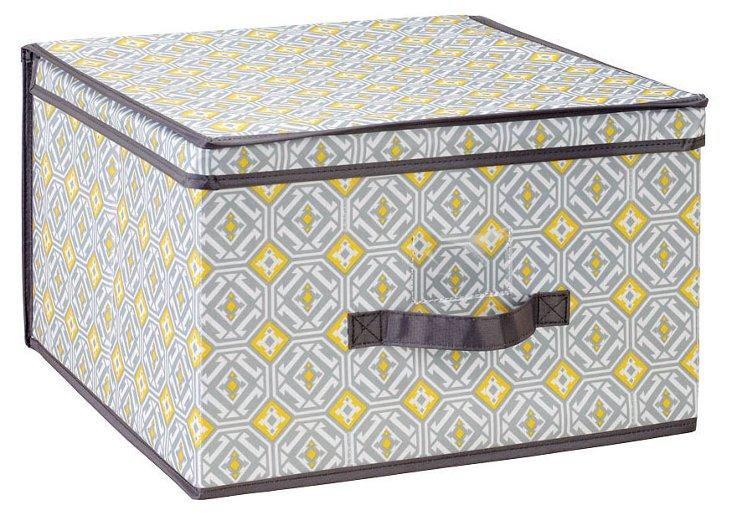 Jumbo Storage Box, Geo Gray