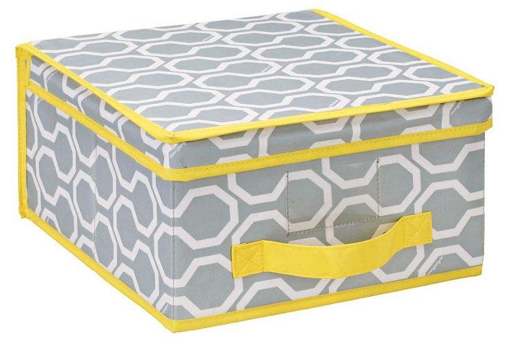 S/2 Medium Storage Boxes, Gray Tile