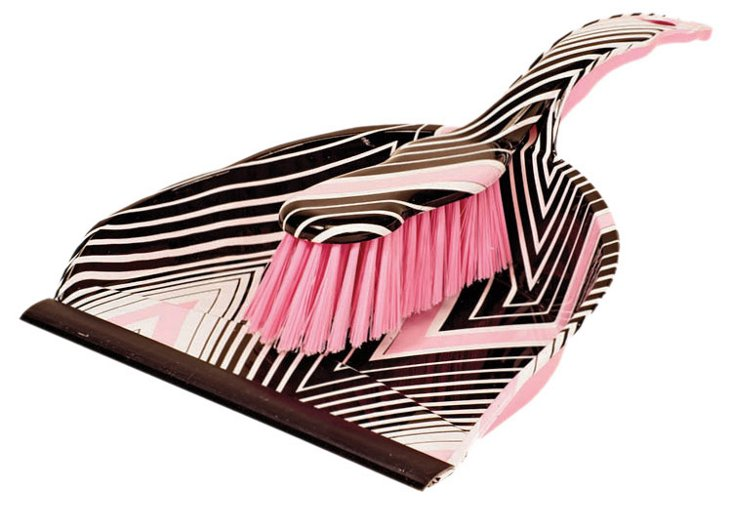 Macbeth Dustpan Set, Black Chevron