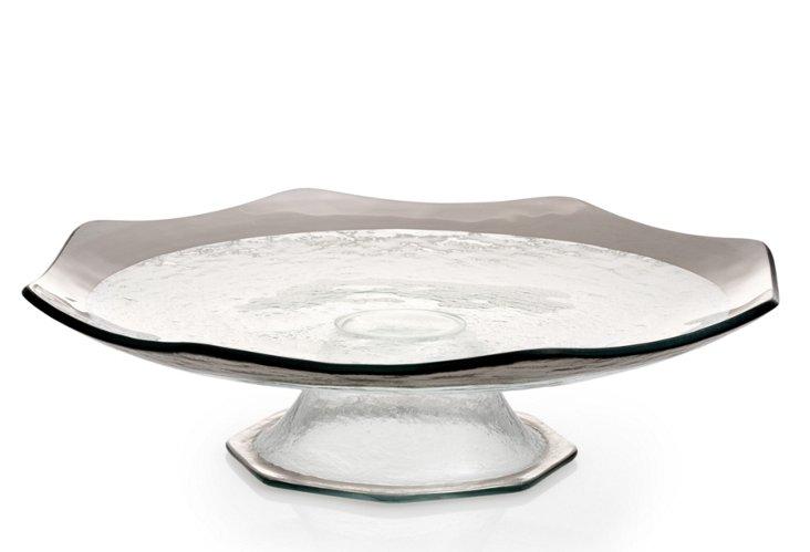 Cake Plate Stand, Platinum