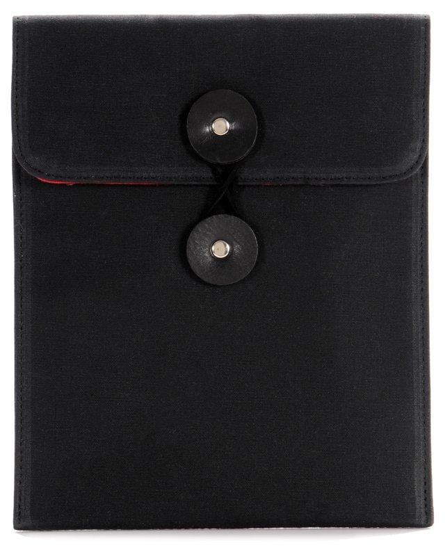 Wax Canvas iPad Case, Black