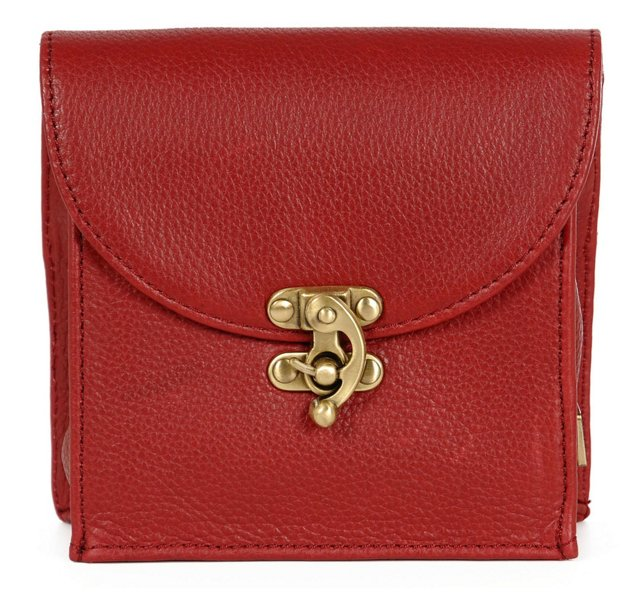 Leather Convertible Pouch, Red