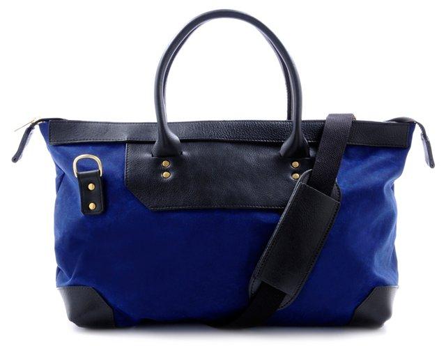 Medium Weekender Bag, Blue/Black