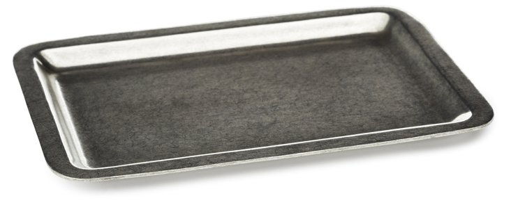 "5"" Pewter Square Tray, Silver"