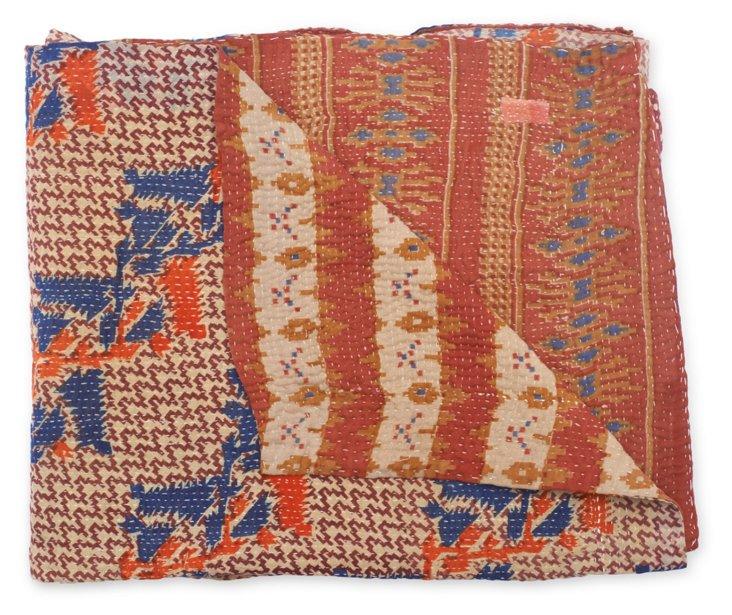 Hand-Stitched Kantha Throw, Suzie