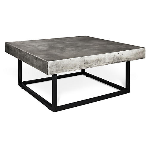 "Rhodes 40"" Coffee Table, Concrete"