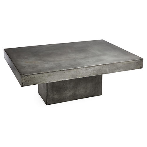 "Eva 48"" Coffee Table, Gray Concrete"
