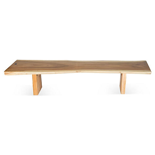 "Free-Form Edge 84"" Bench"
