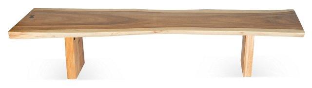 7' Free-Form-Edge Bench