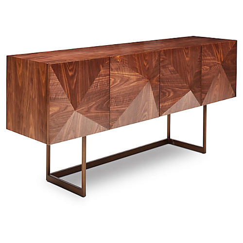 "Cube 71"" Sideboard, Walnut"